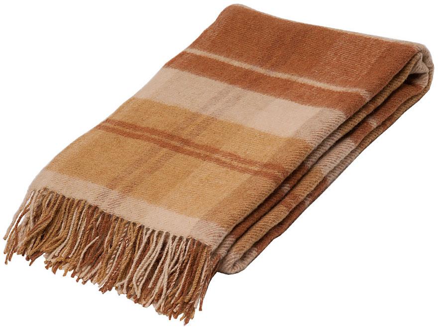 Плед Руно Блюз, цвет: коричневый, бежевый, 140 х 200 см. 1-451-140 (05)87-V036/2Плед Руно Блюз гармонично впишется в интерьер вашего дома и создаст атмосферу уюта и комфорта. Чрезвычайно мягкий и теплый плед с кистями изготовлен из натуральной овечьей шерсти. Высочайшее качество материала гарантирует безопасность не только взрослых, но и самых маленьких членов семьи.Плед - это такой подарок, который будет всегда актуален, особенно для ваших родных и близких, ведь вы дарите им частичку своего тепла!