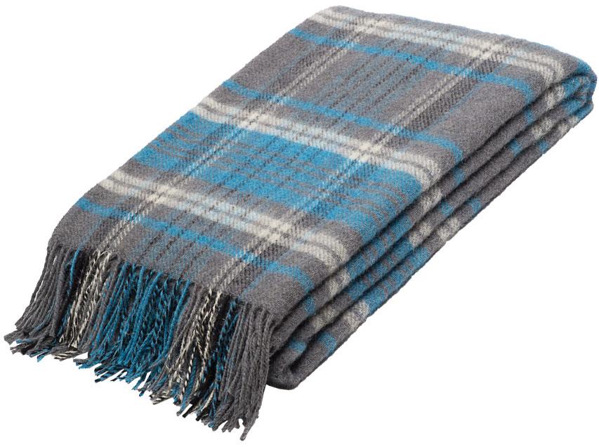 Плед Руно Джаз, цвет: голубой, серый, 140 х 200 см. 1-661-140(02)FD-59Плед Руно Джаз гармонично впишется в интерьер вашего дома и создаст атмосферу уюта и комфорта. Чрезвычайно мягкий и теплый плед с кистями изготовлен из натуральной овечьей шерсти. Высочайшее качество материала гарантирует безопасность не только взрослых, но и самых маленьких членов семьи.Плед - это такой подарок, который будет всегда актуален, особенно для ваших родных и близких, ведь вы дарите им частичку своего тепла!