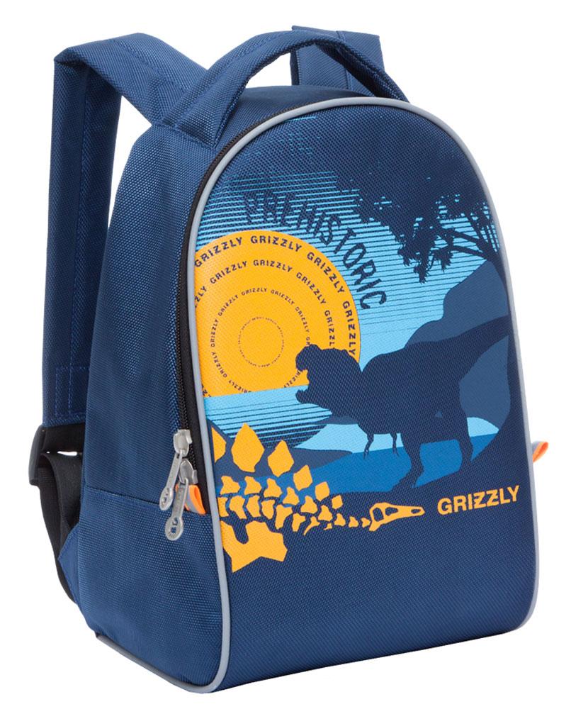 Grizzly Рюкзак дошкольный RS-734-6/272523WDДошкольный рюкзак Grizzly выполнен из прочного материала и украшен изображением динозавра. Рюкзак имеет одно отделение на молнии, регулируемые лямки и специальную ручку для размещения на вешалке. Также на рюкзаке находятся светоотражающие вставки.Порадуйте своего ребенка таким замечательным подарком!