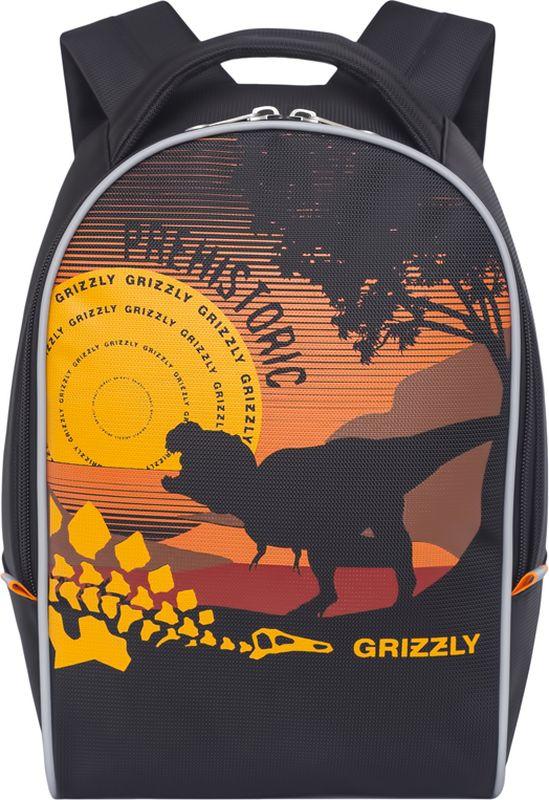 Grizzly Рюкзак дошкольный цвет черный RS-734-6/172523WDРюкзак дошкольный Grizzly изготовлен из высококачественного износоустойчивого материала с водоотталкивающей пропиткой. Рюкзак имеет одно вместительное отделение. Снаружи находятся светоотражающие вставки, делая ребенка заметным на дороге в темное время суток, благодаря чему его путь становится безопаснее. Мягкие регулируемые по высоте лямки обеспечат комфорт при носке, а так же рюкзак будет удобно подвесить на крючок благодаря петле для подвешивания сверху. Рюкзак оформлен ярким веселым принтом, который обязательно понравится ребенку.