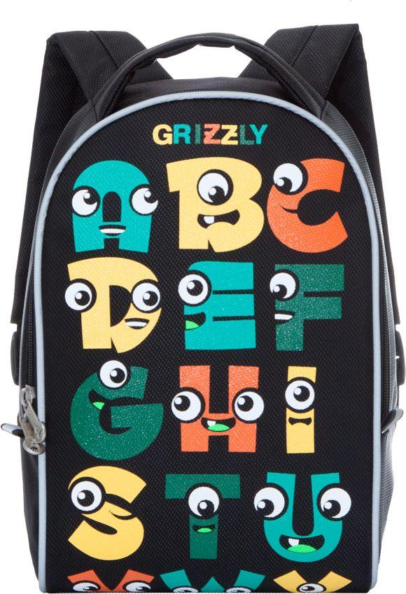 Grizzly Рюкзак дошкольный цвет черный RS-734-5/272523WDРюкзак дошкольный Grizzly изготовлен из высококачественного износоустойчивого материала с водоотталкивающей пропиткой. Рюкзак имеет одно вместительное отделение. Снаружи находятся светоотражающие вставки, делая ребенка заметным на дороге в темное время суток, благодаря чему его путь становится безопаснее. Мягкие регулируемые по высоте лямки обеспечат комфорт при носке, а так же рюкзак будет удобно подвесить на крючок благодаря петле для подвешивания сверху. Рюкзак оформлен ярким веселым принтом, который обязательно понравится ребенку.