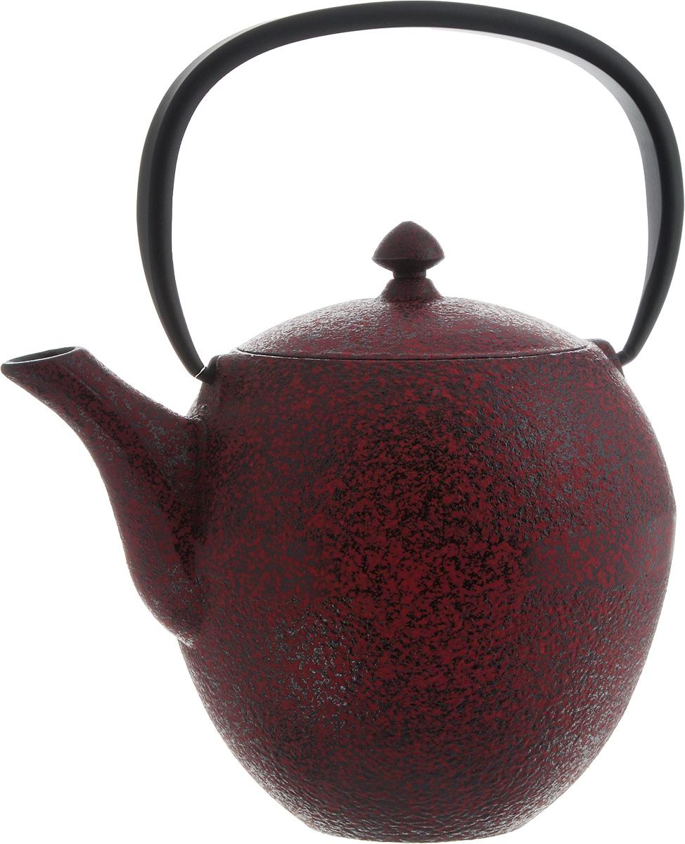 Чайник заварочный BergHOFF Studio, чугунный, с фильтром, цвет: темно-красный, черный, 1,0 лVT-1520(SR)Заварочный чайник BergHOFF Studio изготовлен из чугуна высокого качества. Чугунный чайник дольше других удерживает тепло. Вода в нем будет оставаться горячей и пригодной для заваривания чая в течение часа.Внутреннее покрытие из прочной эмали обеспечивает защиту от коррозии. Чайник оснащен чугунной подвижной ручкой и съемным фильтром из нержавеющей стали, который задерживает заварку и предотвращает ее попадание в чашку. Заварочный чайник BergHOFF Studio украсит любую чайную церемонию, а также станет прекрасным подарком на любое торжество. Рекомендуется мыть вручную.Диаметр чайника (по верхнему краю): 9 см. Высота чайника (без учета крышки и ручки): 12,7 см. Высота чайника (с учетом ручки): 22 см. Диаметр фильтра (по верхнему краю): 8 см.Высота фильтра: 7 см.