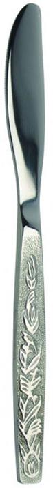 Нож столовый Regent Inox Parma, 2 шт20046Столовый нож Regent Inox Parma выполнен из высококачественной нержавеющей стали с зеркальной полировкой. В комплекте - 2 ножа. Ручки ножей украшены декоративными узорами, лезвия - зубчатые. Такие столовые ножи прекрасно украсят ваш праздничный стол и порадуют своим элегантным дизайном. Характеристики:Материал: нержавеющая сталь 18/10. Комплектация: 2 шт. Общая длина ножа: 19,5 см. Длина лезвия: 8,5 см. Артикул: 93-CU-PA-01.2.