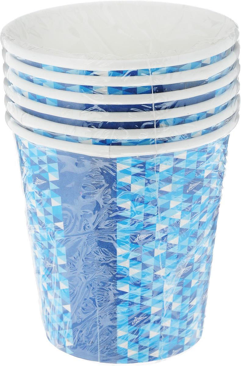Стакан бумажный Зенит, 250 мл, 6 шт16-089Одноразовые стаканы Зенит с ярким, стильным дизайном созданы специально для праздника или пикника. Они почти невесомы, не могут разбиться, их не надо мыть. Выполненные из бумаги, они абсолютно безопасны и прекрасно удерживают напитки. В наборе 6 бумажных стаканов объемом 250 мл.