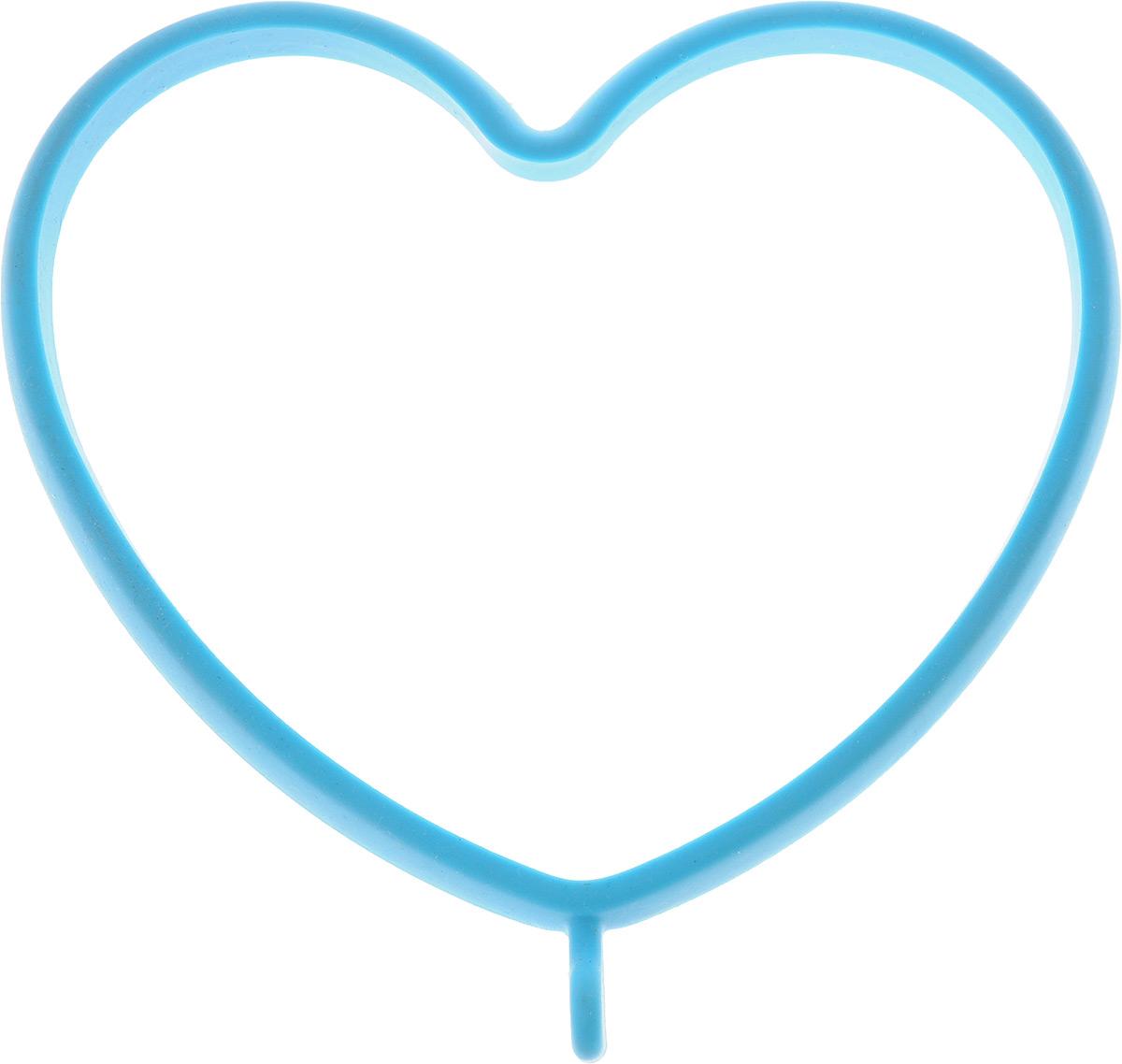 Форма для яичницы Oursson Сердце, цвет: голубой, 13,5 х 13 смAFS029Форма для яичницы Oursson Сердце, выполненная из жаростойкого силикона, подходит для приготовления яичницы, омлета, оладий. Она добавит оригинальности обычным блюдам и особенно понравится детям. Форма не повреждает антипригарное покрытие сковород. Выдерживает температуру от -20°С до +220°С. Для получения идеального результата рекомендуется использовать ее на ровной поверхности сковороды.