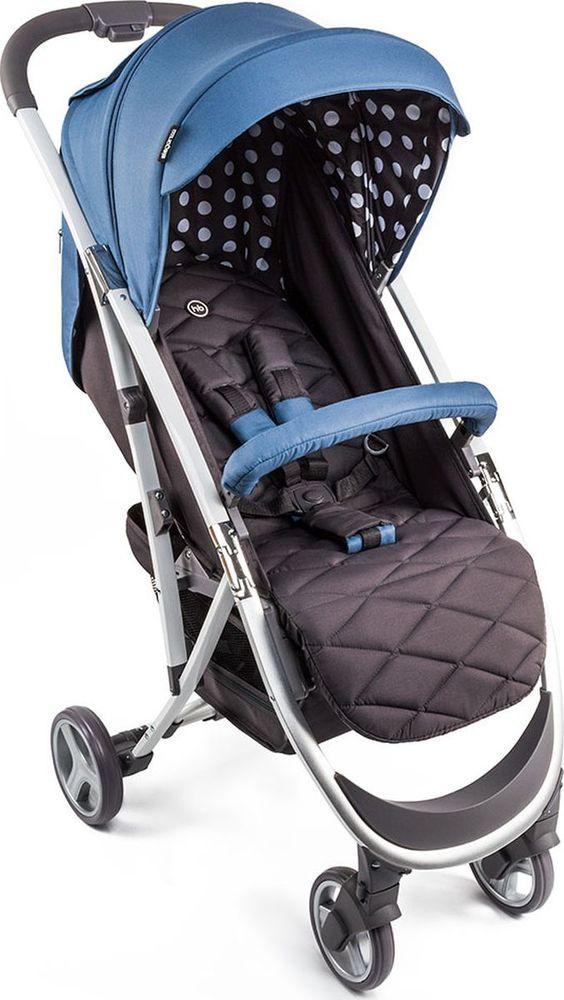 Happy Baby Коляска прогулочная Eleganza V2 цвет синий коричневый -  Коляски