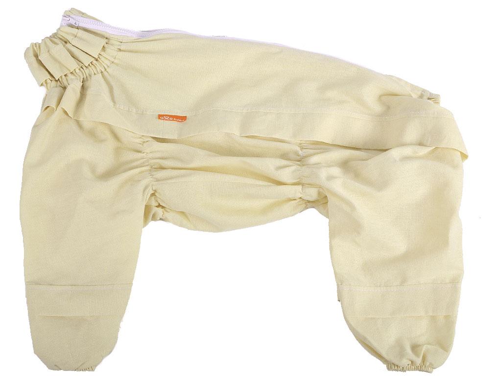 Комбинезон для собак  OSSO Fashion , от клещей, для мальчика, цвет: бежевый. Размер 25
