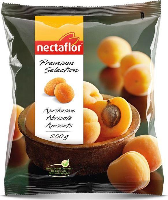 Nectaflor курага сульфитированная, 200 г606024Ярко оранжевая, сладкая, нежная курага с освежающим ароматом. Крупного размера нежная курага без косточки богата клетчаткой и антиоксидантами. Идеально подходит в качестве закуски в любое время дня.