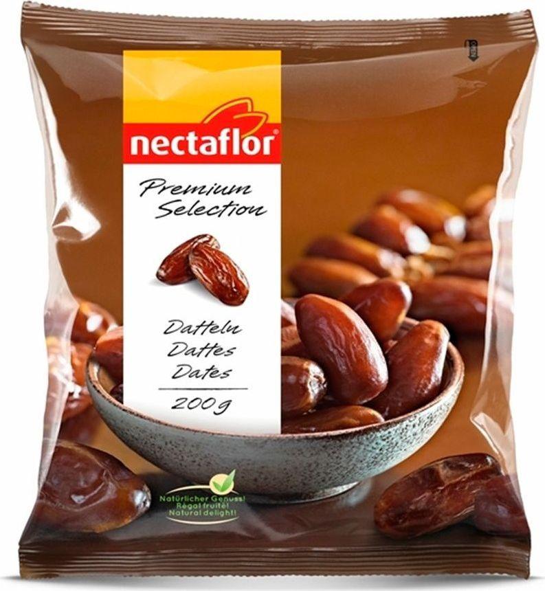 Nectaflor финики, 200 г657024Это 100% натуральный продукт без консервантов и без добавления глюкозы или сиропа.