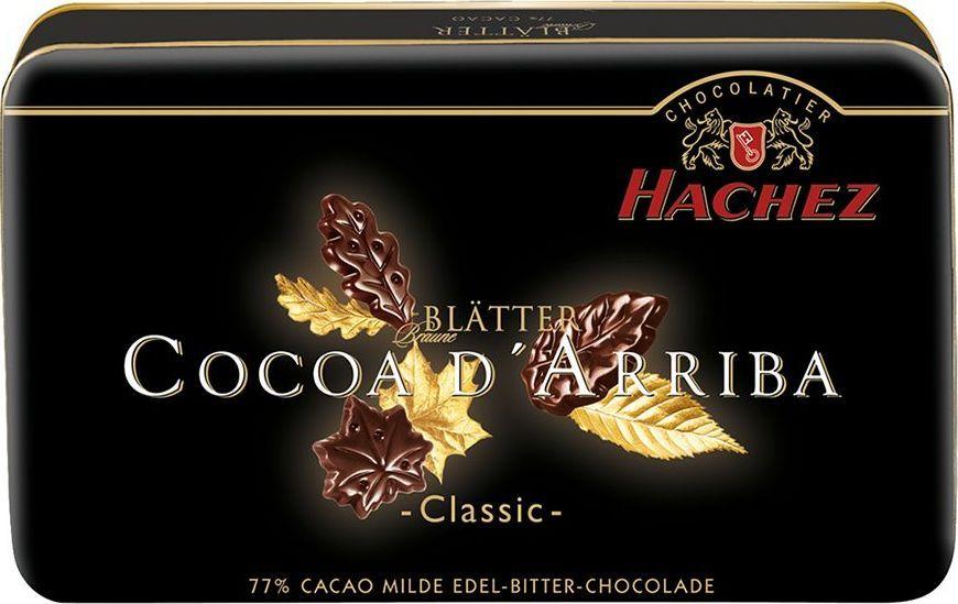 Hachez шоколадные лепестки 77%, 150 г0120710Шоколадные лепестки Cocoa d'Arriba с классическим вкусом. Современный, привлекательный дизайн. Идеальный подарок к любому празднику.