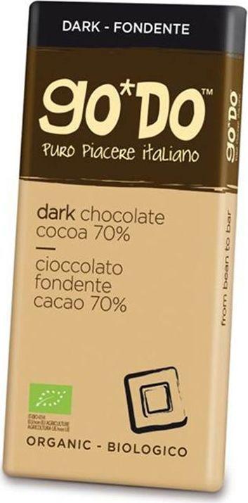 Icam Godo шоколад органический горький 70% какао, 85 гК1061Шоколад ГОДО органический горький 70% какао 85 г. Органический шоколад из Италии высшего качества. Великолепный вкус шоколада является неотъемлемой частью наслаждения жизнью. Уникальная упаковка.