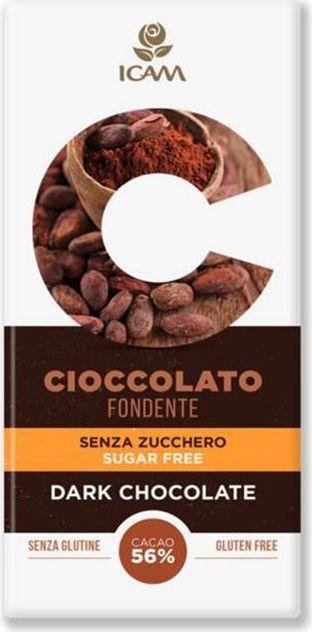 Icam Vanini шоколад классик без содержания сахара горький 56% какао, 100 гК7206Шоколад ICAM Классик без содержания сахара горький 56% какао 100 г – это плод вечной страсти, передаваемый с 1946 года из поколения в поколение семьей Agostoni, - виртуозами по производству подлинного итальянского шоколада. Высококачественные ингредиенты. Высококачественные ингредиенты. Продукция не содержит глютен. Привлекательный дизайн упаковки.