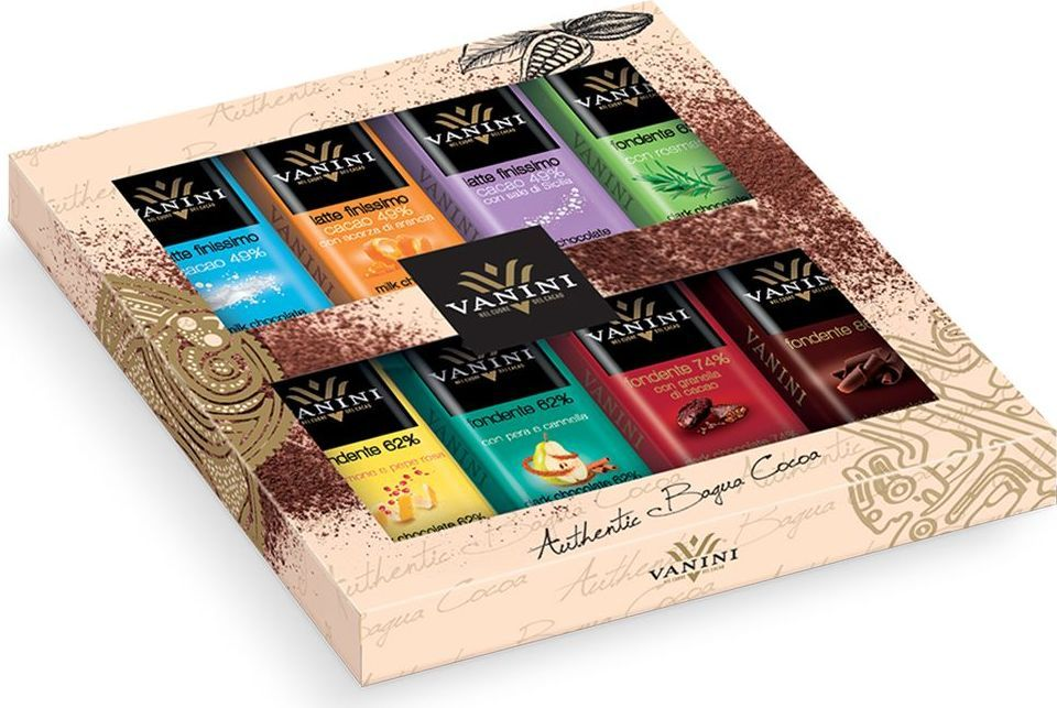 Icam Vanini Anthon Berg ассорти шоколадных плиток, 8 шт по 15 г0120710Ассорти шоколадных плиток Ванини - гастрономический шоколад из Италии.