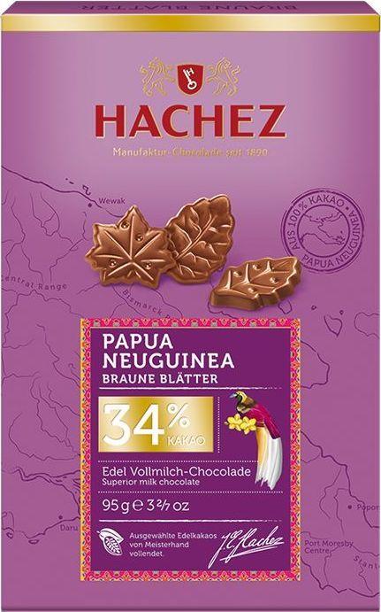 Hachez шоколадные лепестки из какао сорта Папуа Новая Гвинея 34%, 95 г0120710Шоколадные лепестки из коллекции премиального шоколада, созданного из уникального сорта какао бобов Новой Гвинеи. Белки - 8 г, углеводы - 42 г, жиры - 41 г.
