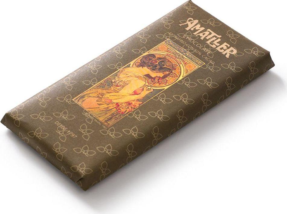 Amatller шоколад горький 50% какао, 85 гК7572Чем выше процентное содержание какао-продуктов в шоколаде, тем он полезнее. Ведь в них содержатся соединения, благотворно влияющие на наш организм. Они регулируют кровяное давление, успокаивая нервы, также являясь мощными антиоксидантами.