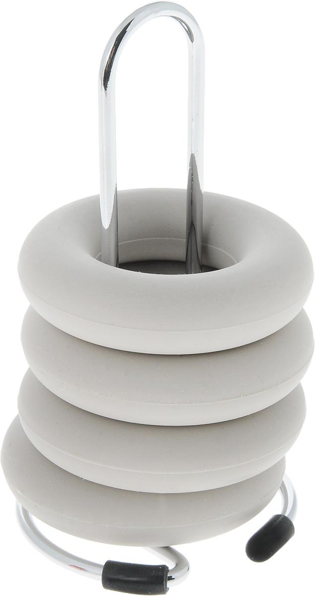 Подставка под яйца Zeller, 4 кольца, цвет: серый27226_серыйПодставка под яйца Zeller представляет собой металлическую стойку и 4 силиконовых кольца. Такие кольца очень удобны для яиц, так как надежно их удерживают. Стойка предназначена для хранения колец. Она снабжена прорезиненным основанием для устойчивости. Такой набор станет полезным и практичным приобретением для вашей кухни и сделает сервировку стола к завтраку красивой и оригинальной. Диаметр кольца: 5,5 см. Размер стойки: 5 х 6 х 10 см.