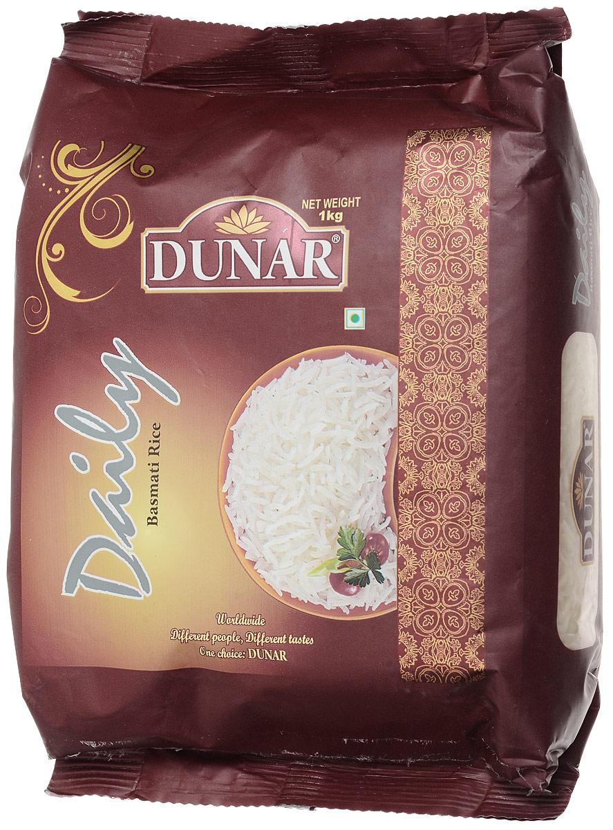 Dunar Daily басмати рис, 1 кг0120710Рис басмати от Dunar Daily имеет зёрна молочного цвета. Он является частично пропаренным, а его выдержка составляет 2 года. Длина риса в приготовленном виде 16,30 мм.