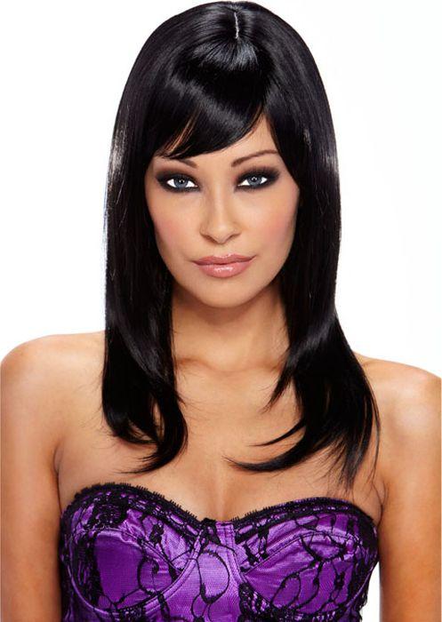 Черный парик со стильной укладкой Seduction. Размер универсальный. EF-WG-08-BLK - Средства и аксессуары для волос