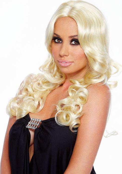 Парик с кудрявыми локонами платиновый блонд Blonde Elite. Размер универсальный. EF-WG-17-WHT - Средства и аксессуары для волос
