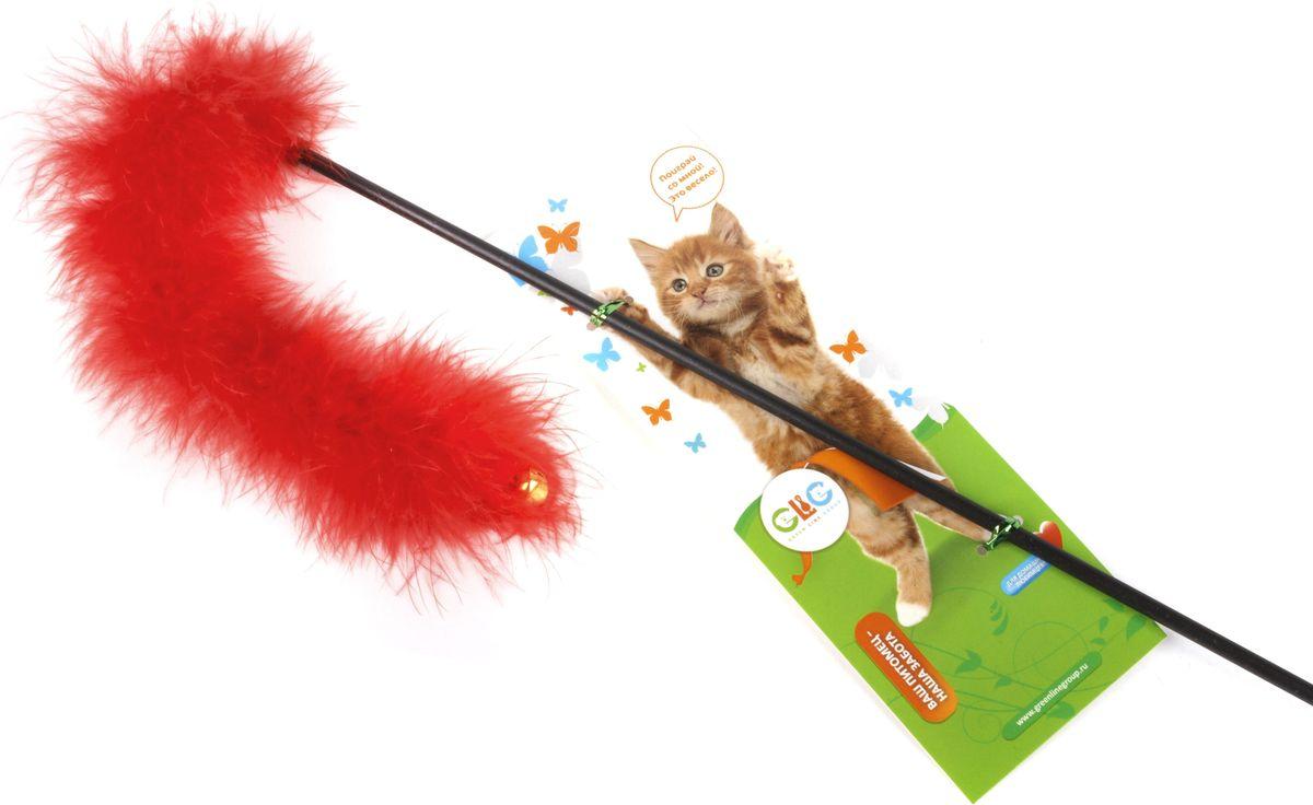 Игрушка-дразнилка для кошек GLG Боа с бубенчиками, цвет: мультиколор, длина 60 см0120710Игрушка для кошек Дразнилка-удочка Боа с бубенчиками, длина палочки 60 см, материал- палочка пластик, перья.