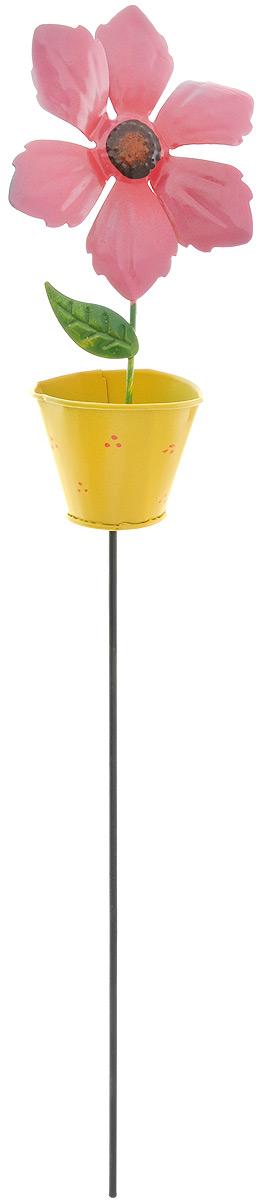 Украшение декоративное садовое Феникс-Презент Хризантема, высота 42 смП-03-10Декоративное садовое украшение Феникс-Презент изготовлено из металла и представляет собой палочку с фигуркой хризантемы в горшке наверху. Декоративные садовые фигурки внесут завершающий штрих при создании ландшафтного дизайна дачного или приусадебного участка. Они позволят создать правдоподобную декорацию и почувствовать себя среди живой природы. Кроме этого, веселые и незатейливые, они поднимут настроение вам, вашим друзьям и родным. Длина украшения: 42 см. Размер фигурки: 8 х 5,2 х 16 см.