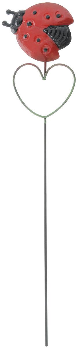 Украшение декоративное садовое Феникс-Презент Божья коровка, высота 38 см531-322Декоративное садовое украшение Феникс-Презент изготовлено из металла и представляет собой палочку с фигуркой божьей коровки наверху. Декоративные садовые фигурки внесут завершающий штрих при создании ландшафтного дизайна дачного или приусадебного участка. Они позволят создать правдоподобную декорацию и почувствовать себя среди живой природы. Кроме этого, веселые и незатейливые, они поднимут настроение вам, вашим друзьям и родным. Длина украшения: 38 см. Размер фигурки: 8 х 12,5 см.