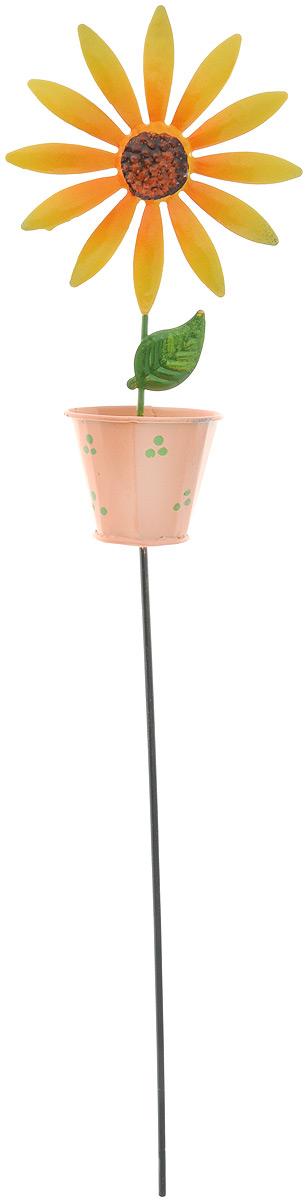 Украшение декоративное садовое Феникс-Презент Подсолнух, высота 42 см10503Декоративное садовое украшение Феникс-Презент изготовлено из металла и представляет собой палочку с фигуркой подсолнуха в горшке наверху. Декоративные садовые фигурки внесут завершающий штрих при создании ландшафтного дизайна дачного или приусадебного участка. Они позволят создать правдоподобную декорацию и почувствовать себя среди живой природы. Кроме этого, веселые и незатейливые, они поднимут настроение вам, вашим друзьям и родным. Длина украшения: 42 см. Размер фигурки: 9,5 х 5,2 х 17,5 см.