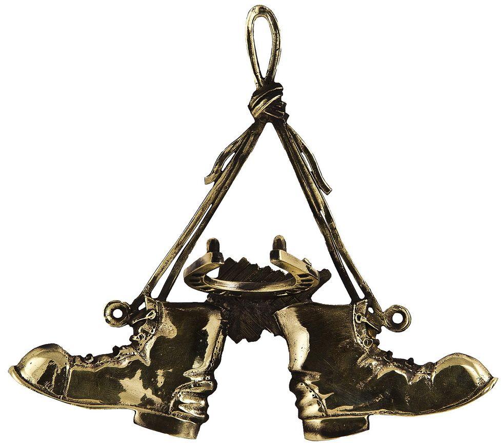 Крючок на стену Башмачки. Авторская работа. ВК -20DEN-18Крючок для ложек для обуви ВЛД-12.Размер крючка Башмачки: 15,5?15 см.Латунь