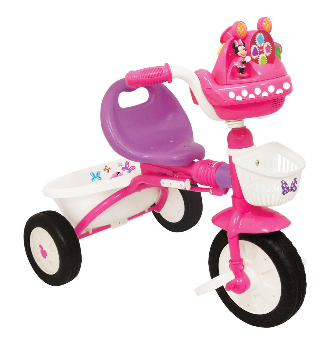Kiddieland Велосипед трехколесный Минни Маус складной цвет розовыйKID 047423Велосипед 3-колесный Минни Маус складной. Такой велосипед создан специально для девочек. Он обязательно понравится Вашему ребенку. Подойдет для детей от 1 года.Характеристики:• Велосипед выполнен из высококачественных материалов.• Рама выполнена из металла.• Все остальные детали выполнены из пластика.• Три устойчивых колеса.• Две удобные корзинки для игрушек и мелочей.• Велосипед легко складывается и раскладывается.• Удобное сидение со спинкой.• Надежная конструкция прослужит долгие годы.
