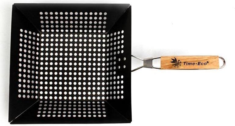 Решетка-гриль открытая 29х28,5 см со складной ручкой и антипригарным покрытием, для морепродуктов7111Решетки-гриль - Ваши незаменимые помощники на пикниках и в походах. Удобные, экологичные и безопасные, специально разработанные для приготовления самых различных продуктов на мангале.