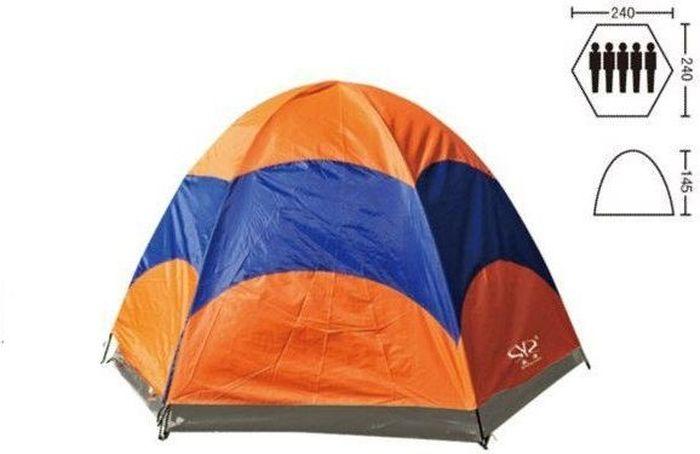 Палатка туристическая 5-ти местная, двухслойная Калифорния, 240 х240 х145 WILDMAN81-629Верным спутником каждого любителя походов является палатка. Легкая, компактная, универсальная и недорогая - замечательный вариант для любых походов и выездов на природу.