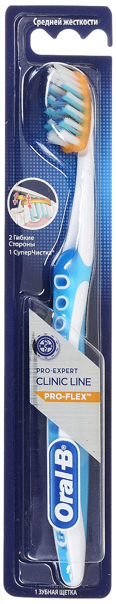 Зубная щетка Oral-B Pro-Expert Clinic Line Pro-Flex, средняя жесткость, цвет голубой5010777139655Зубная щетка Oral-B Pro-Expert Clinic Line Pro-Flex, средняя жесткость, цвет голубой