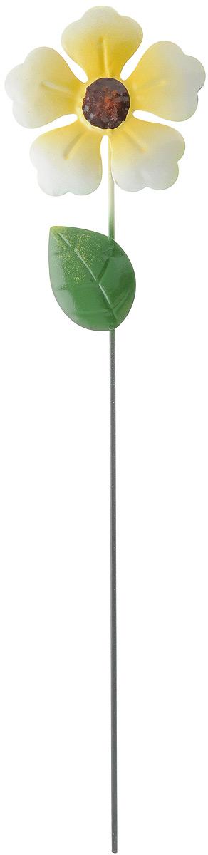 Украшение декоративное садовое Феникс-Презент Цветок, цвет: желтый, зеленый, высота 41,5 см2016Декоративное садовое украшение Феникс-Презент изготовлено из металла и представляет собой палочку с фигуркой цветка наверху. Декоративные садовые фигурки внесут завершающий штрих при создании ландшафтного дизайна дачного или приусадебного участка. Они позволят создать правдоподобную декорацию и почувствовать себя среди живой природы. Кроме этого, веселые и незатейливые, они поднимут настроение вам, вашим друзьям и родным. Длина украшения: 41,5 см. Диаметр фигурки: 10 см.