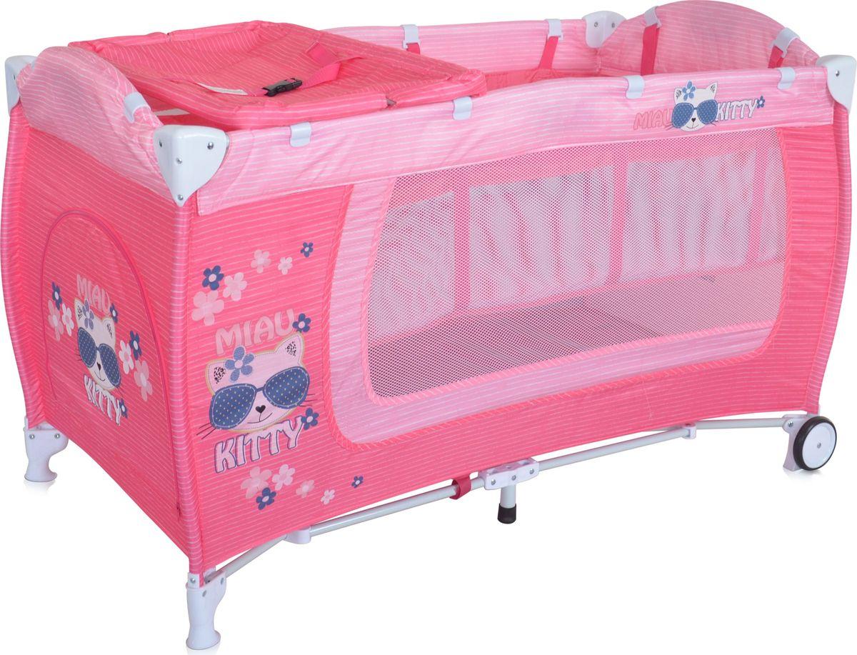 Lorelli Манеж Danny 2 цвет розовый3800151960218Детский манеж-кровать для детей с рождения и до 3 лет. Верхний уровень с рождения и до 6 мес., в комплекте идет пеленальник с рождения и до 3 мес. Надежные пластиковые крепления. Два колеса с фиксацией. Яркие расцветки, приятны для мамы и малыша. Манеж безопасен для игр и сна малыша, надежная установка и безопасность. Размеры манежа 120х60х72 см. вес 10,6кг. Манеж имеет боковой лаз на молнии, легкую систему складывания и раскладывания. Сумку - чехол для переноски манежа. Матрасик в комплетке на дно манежа.