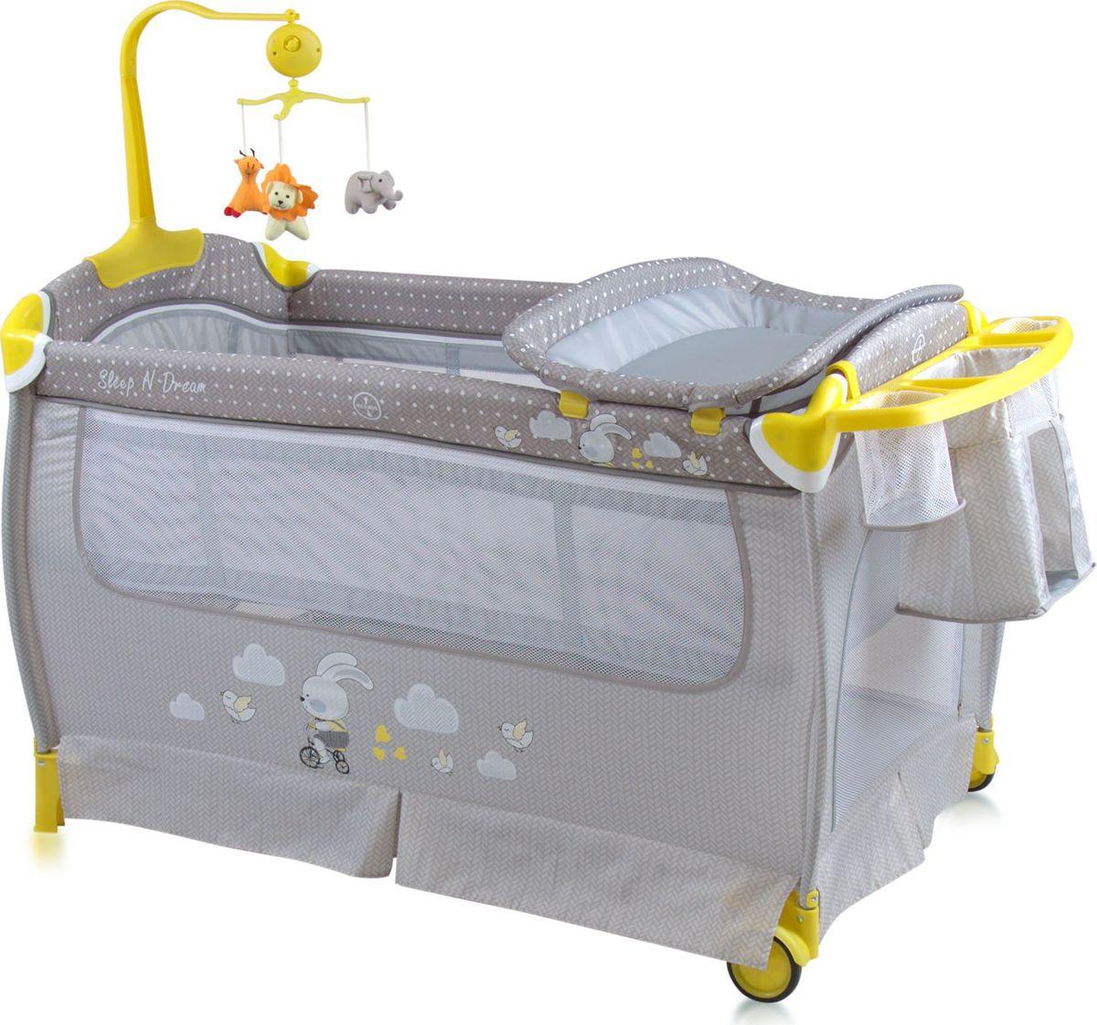 Lorelli Манеж-кроватка Sleep'N'Dream цвет серый