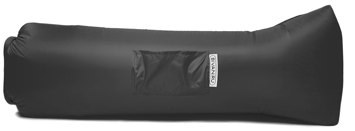 Диван надувной Биван 2.0, цвет: серый, 190 х 90 смBVN17-ORGNL-GRYБиван 2.0 — надувной гамак (лежак, диван) второго поколения. Отличается от оригинала продвинутой анатомической формой. Он стал более плоским — поэтому повысилась его устойчивость. Мы добавили подушку в изголовье, а также специальную мембрану, позволяющую спать лицом вниз.Верхний слой Бивана 2.0 выполнен из ткани с водоотталкивающей пропиткой.А еще у Бивана появилось два крепления для подсветки и два крепления для колышка.Быстронадуваемый. Чтобы подготовить Биван к использованию, понадобится около 15 секунд. Какой насос? Кому теперь нужен насос?!Для любых поверхностей. Биван выполнен из прочного износостойкого текстиля со специальной пропиткой. Ему не страшны трава, камни, вода и песок. Лежите, где хотите.12 часов релакса. Биван способен удерживать воздух более 12 часов, что позволит вам использовать его и для сна.
