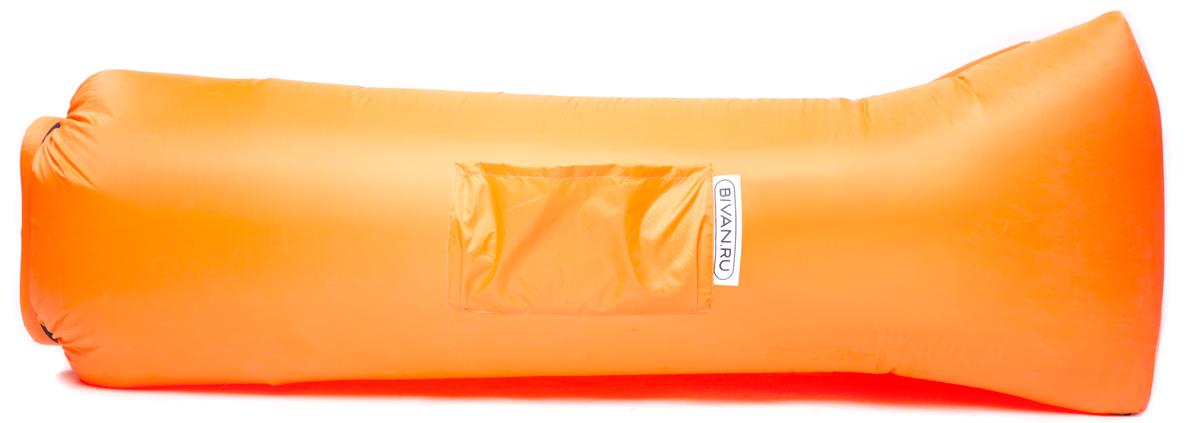 Диван надувной Биван 2.0, цвет: оранжевый, 190 х 90 смBVN17-ORGNL-ORNБиван 2.0 — надувной гамак (лежак, диван) второго поколения. Отличается от оригинала продвинутой анатомической формой. Он стал более плоским — поэтому повысилась его устойчивость. Мы добавили подушку в изголовье, а также специальную мембрану, позволяющую спать лицом вниз.Верхний слой Бивана 2.0 выполнен из ткани с водоотталкивающей пропиткой.А еще у Бивана появилось два крепления для подсветки и два крепления для колышка.Быстронадуваемый. Чтобы подготовить Биван к использованию, понадобится около 15 секунд. Какой насос? Кому теперь нужен насос?!Для любых поверхностей. Биван выполнен из прочного износостойкого текстиля со специальной пропиткой. Ему не страшны трава, камни, вода и песок. Лежите, где хотите.12 часов релакса. Биван способен удерживать воздух более 12 часов, что позволит вам использовать его и для сна.