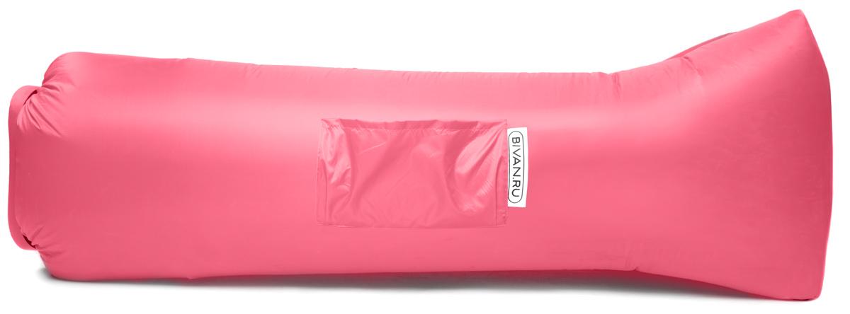 Диван надувной Биван 2.0, цвет: розовый, 190 х 90 смBVN17-ORGNL-PNKБиван 2.0 — надувной гамак (лежак, диван) второго поколения. Отличается от оригинала продвинутой анатомической формой. Он стал более плоским — поэтому повысилась его устойчивость. Мы добавили подушку в изголовье, а также специальную мембрану, позволяющую спать лицом вниз.Верхний слой Бивана 2.0 выполнен из ткани с водоотталкивающей пропиткой.А еще у Бивана появилось два крепления для подсветки и два крепления для колышка.Быстронадуваемый. Чтобы подготовить Биван к использованию, понадобится около 15 секунд. Какой насос? Кому теперь нужен насос?!Для любых поверхностей. Биван выполнен из прочного износостойкого текстиля со специальной пропиткой. Ему не страшны трава, камни, вода и песок. Лежите, где хотите.12 часов релакса. Биван способен удерживать воздух более 12 часов, что позволит вам использовать его и для сна.