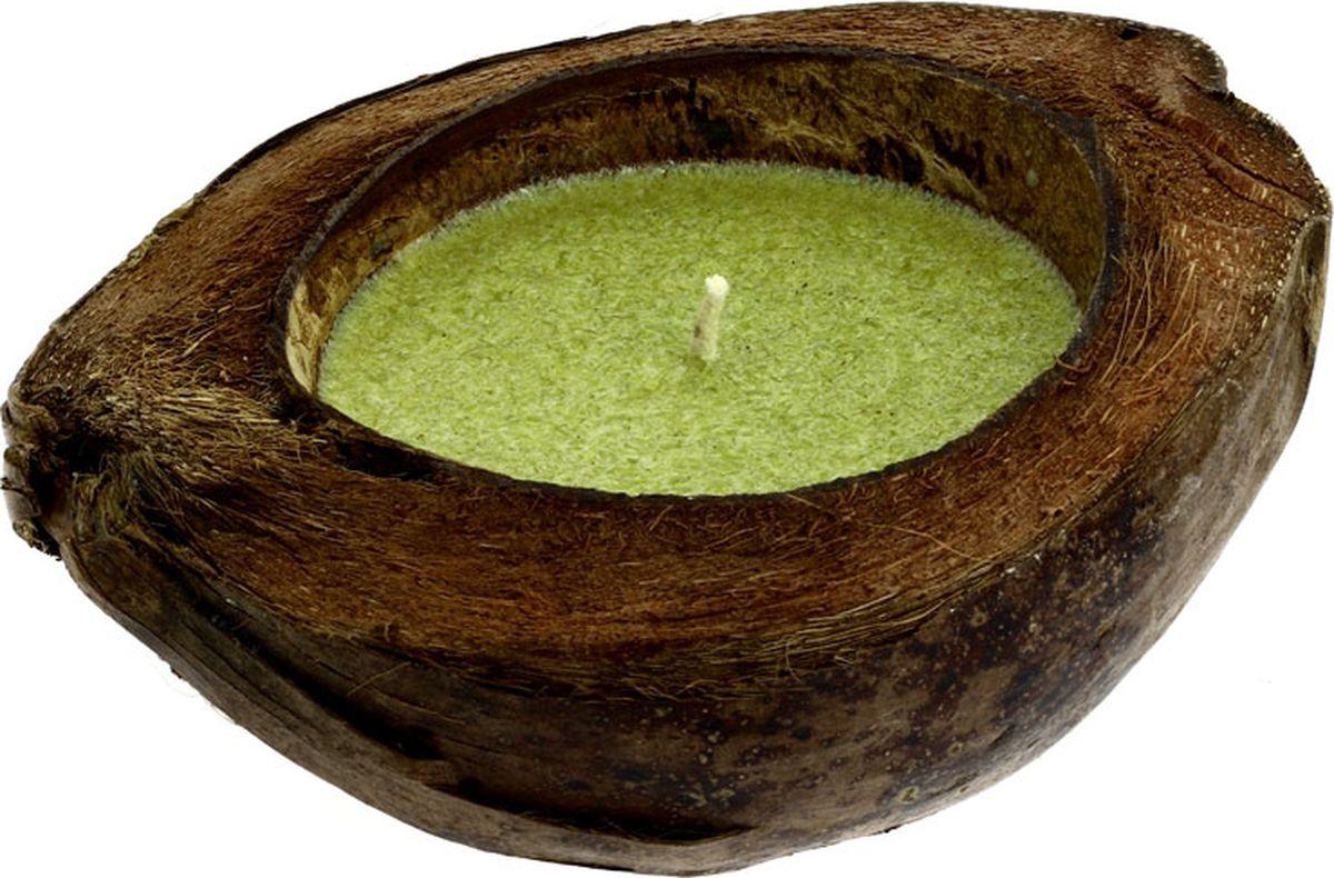 Свеча ароматизированная CV Tample-Lights, в кокосе, с ароматом сандалаRG-D31SСвеча, плавающая в натуральном кокосе с растительным воском и ароматическим маслом. В летнее время большим спросом пользуются свечи с ароматом цитронеллы. Свечи имеют приятный запах, который к тому же отпугивает комаров. После того, как свеча сгорела, из нее можно сделать новую, или она может служить декоративным украшением.