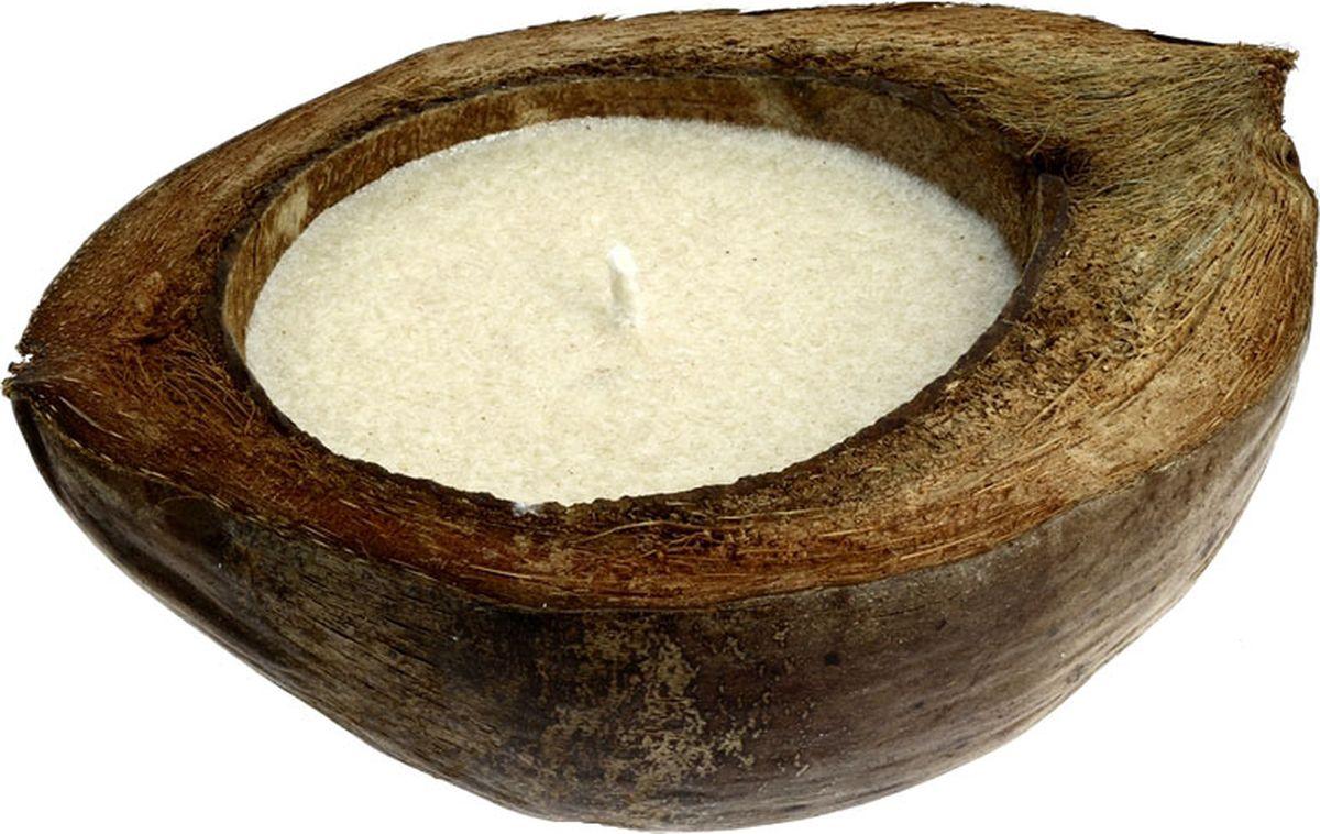 Свеча ароматизированная CV Tample-Lights, в кокосе, с ароматом ванилиБрелок для ключейСвеча CV Tample-Lights, плавающая в натуральном кокосе с растительным воском и ароматическим маслом. После того, как свеча сгорела, из нее можно сделать новую, или она может служить декоративным украшением.