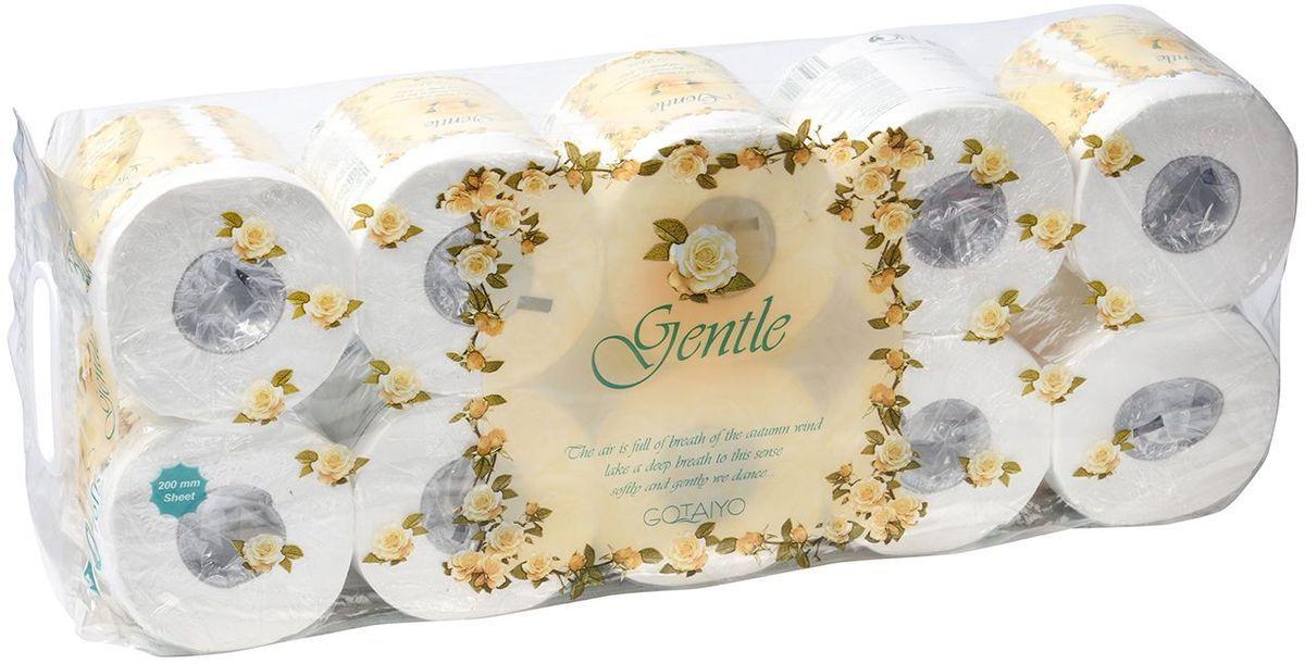 Туалетная бумага Gotayio  Gentle , трехслойная, с ароматом  Европы , 10 рулонов - Туалетная бумага