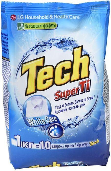 """Стиральный порошок LG Tech Super Ti, для белых вещей, с оптическим отбеливателем, 1 кгZ-0307Не содержит фосфатыЯркость, белизна и чистота цвета ваших вещейЯркость и белизна вашей одежды оптическому отбеливателю """"Optical Brighter""""Система контроля пенообразования оптимизирована для большинства видов стиральных машинМощная отстирывающая способность достигается благодаря системе смягчения водыМульти энзимная система способствует быстрому расщеплению пятен для защиты цвета вашей одеждыСпособ применения:Среднее/обычное загрязнение 1 ложка, 100 мл на 100 гСильное загрязнение 2 ложки, 200 мл на 200 гПри жесткости воды >20dH = 1/3 ложки, 33 мл на 33 гРучная стирка ? ложки, 50 мл на 50 гПеред стиркой, внимательно изучите ярлык на одежде. Полностью растворите порошок в воде, прежде чем закладывать вещи. Разделите одежду по цветам (цветное от белого). При стирке вещи впервые, проведи тест на стойкость цвета на невидимом участке одежды. Для лучшего отстирывания замочите вещи не более чем на 30 минут. Стиральный порошок подходит для следующих типов ткани: хлопок, полиэстер, нейлон, вискоза, акрил.Внимание при применении: Использовать строго по назначению. Используйте резиновые перчатки при ручной стирки или хорошо промойте руки водой после стирки для предотвращения сухости кожи. Хранить вдали от детей, после вскрытия хранить в сухом месте для предотвращения затвердевания. При попадании в глаза промыть их водой. Не пить и не есть порошок. В случае если вы случайно проглотили порошок, выпейте большое кол-во воды или молока. Если вы почувствуете себя плохо, обратитесь к врачу. Хранить в сухом, прохладном месте.Состав: 5-15% : анионный ПАВ, зеолиты;"""