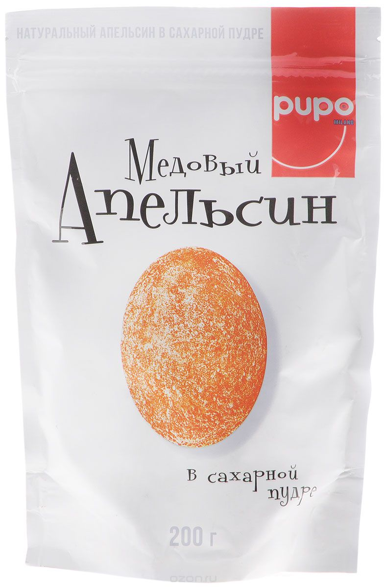 Pupo Медовый апельсин конфеты неглазированные, 200 г14505Фортунелла (кумкват) - это маленькие апельсины ,которые называютзолотыми. Они растут на плантациях Юго-Восточной Азии и проходят сушку естественным,экологичным образом под лучами солнца. Вяленые и выдержанные в медовом сиропе плоды Фортунелла - это богатый витаминами и минералами десерт, который имеет пряный медовый вкус, тонизирует и укрепляет иммунитет. Настоящий источник энергии и хорошего настроения.