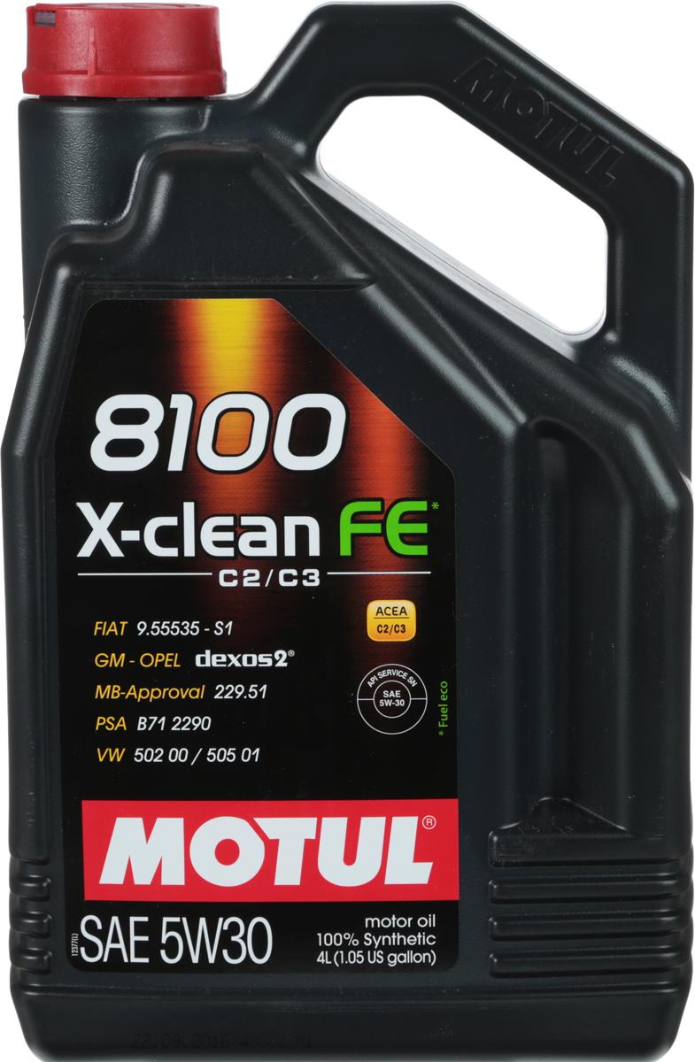 Масло моторное Motul 8100 X-Clean, синтетическое, 5W-30, 4 лS03301004100% синтетическое моторное масло со сниженным содержанием сульфатной золы (?0,8%), фосфора (0.07%-0.09%), серы (?0.3%) - Mid SAPS. Специально разработано для обеспечения высоких защитных свойств и топливной экономичности. Применяется для последнего поколения бензиновых и дизельных двигателей, отвечающих требованиям норм Евро IV и Евро V, которые оснащаются каталитическим нейтрализатором или сажевым фильтром (DPF). Соответствует требованиям PSA B71 2290 и GM-OPEL dexos2. ACEA Стандарты: ACEA C2 / C3API Стандарты: API SERVICES SN / CFОдобрения: GM-OPEL dexos2; MB-Approval 229.51; PSA B71 2290; VW 502 00 / 505 01; FIAT 9.55535-S1 / S3