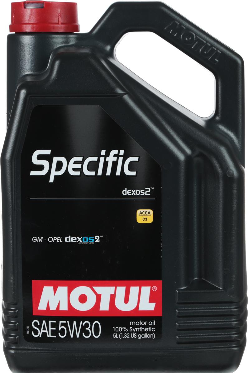 Масло моторное Motul Specific Dexos2, синтетическое, 5W-30, 5 л102643Моторное масло для бензиновых и дизельных двигателей GM-Opel. 100% синтетическое. Высокотехнологичное 100% синтетическое энергосберегающее моторное масло, специально разработано для двигателей автомобилей GM-Opel, требующих использования моторных масел, одобренных General Motors по стандарту dexos2TM. Универсальное моторное масло для большинства двигателей GM-Opel обладает высокой смазывающей способностью (высокая вязкость HTHS> 3,5 mPa.s) и энергосберегающими свойствами. Также совместимо с двигателями требующими использование моторного масла класса API SM/CF или ACEA C3. Совместимо со всеми типами топлива (бензин, дизельное топливо, биодизель, сжатый или сжиженный газ). Может быть не применимо в некоторых типах двигателей. Перед использованием необходимо ознакомиться с рекомендациями в руководстве по эксплуатации автомобиля. ACEA Стандарты: ACEA C3API Стандарты: API PERFORMANCES SN/CFОдобрения: GM-OPEL dexos2 - License number: GB2A01020701