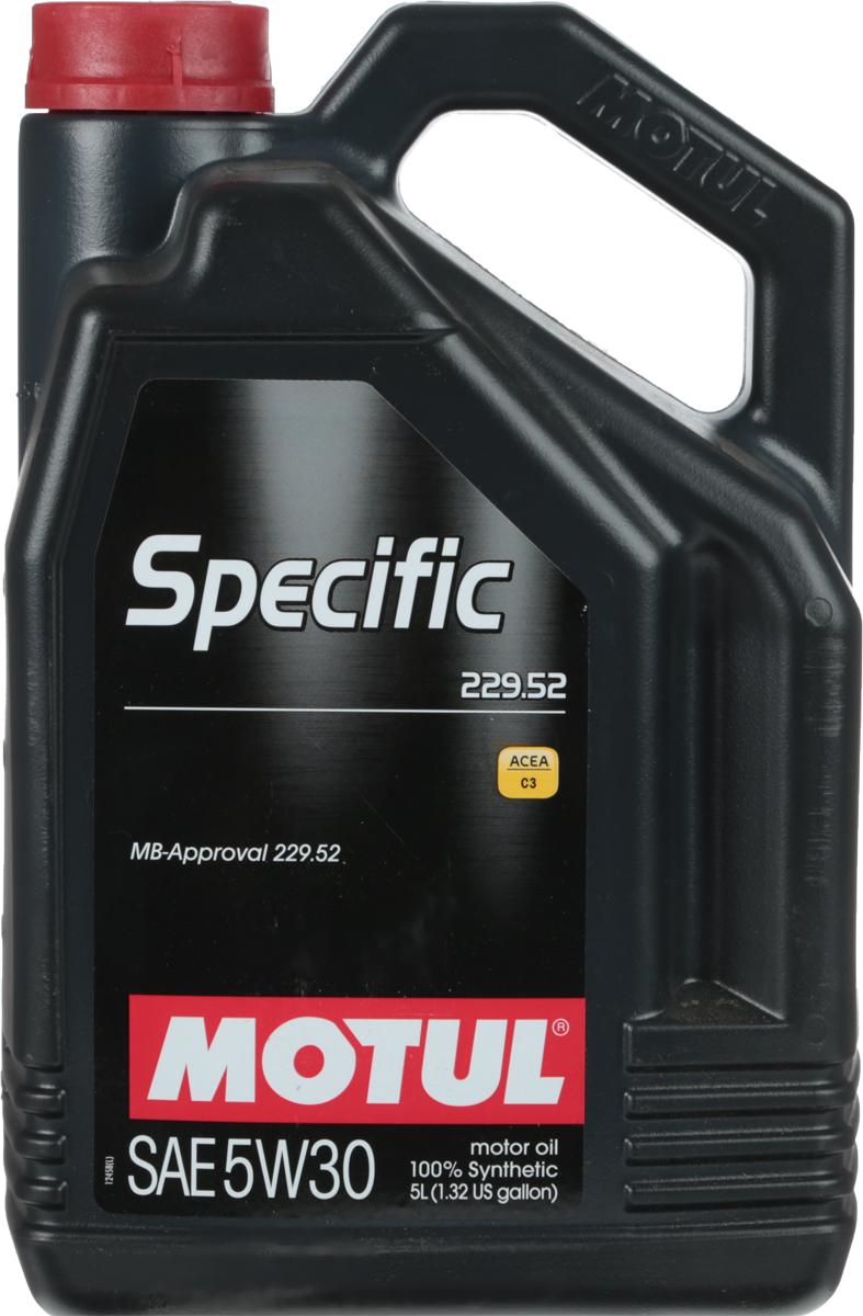 Масло моторное Motul Specific 229.52 MB, синтетическое, 5W-30, 5 лSATURN CANCARD100% синтетическое моторное масло, специально разработанное для обеспечения энергосберегающих свойств. Применяется для последнего поколения бензиновых и дизельных двигателей Mercedes Benz, в том числе оснащенных селективно-восстановительной системой (SCR). Имеет превосходную термоокислительную стабильность. Обратносовместим с требованиями MB 229.51 и MB 229.31. ACEA Стандарты: ACEA C3API Стандарты: API PERFORMANCES SN/CFОдобрения: MB-Approval 229.52
