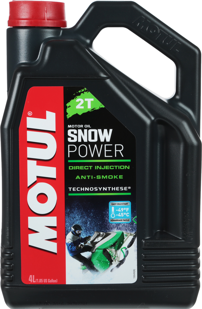 Масло моторное Motul Snowpower 2T. Technosynthese, синтетическое, 4 лS03301004Специальная формула масла снижает дымность выхлопа. Предназначено специально для 2-х тактных двигателей снегоходов, которые используются в полярных условиях. Все типы 2-х тактных двигателей с раздельной и смешанной смазкой. Все типы применения, в том числе и соревнования.