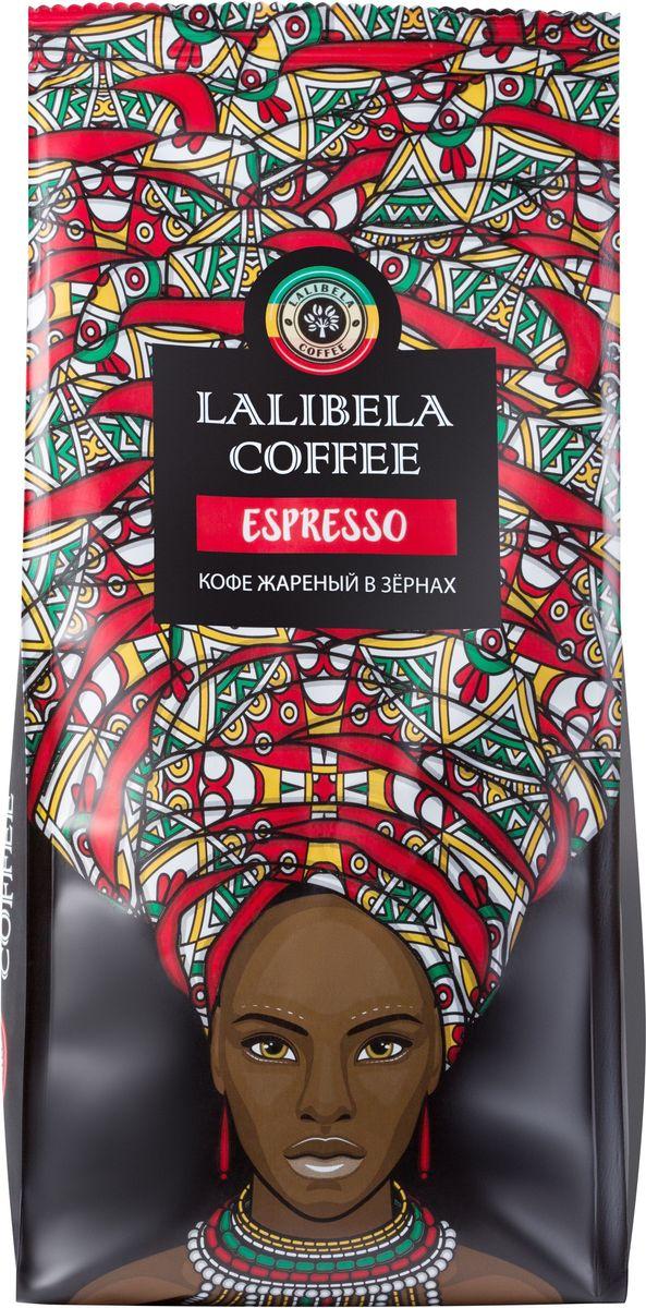 Lalibela coffee Espresso кофе в зернах, 500 г0120710Пленительный и крепкий, Lalibela Coffee Espresso порадует вас сочной цитрусовой кислинкой во вкусе и горчинкой в послевкусии. Побалуйте себя ароматной чашечкой изысканного кофе по традиционному итальянскому рецепту. Лишь безупречное сочетание лучших сортов арабики и робусты позволяет получить этот образец эспрессо, насыщенный и терпкий, как сама жизнь.
