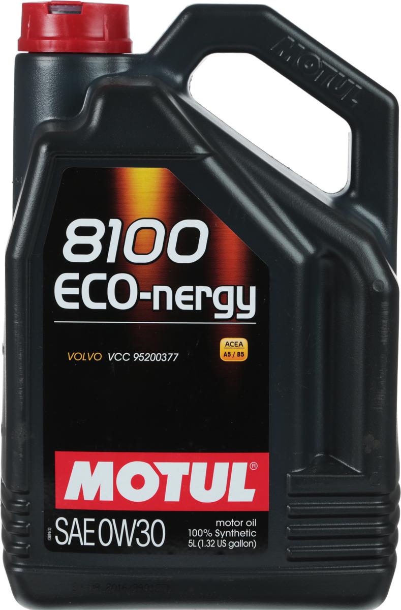 Масло моторное Motul 8100 Eco-Nergy, синтетическое, 0W-30, 5 л80621100% синтетическое моторное масло для бензиновых и дизельных двигателей. Энергосберегающее. Энергосберегающее 100% синтетическое моторное масло специально разработано для мощных современных бензиновых и дизельных двигателей автомобилей, в том числе с непосредственным впрыском, для которых предусмотрено использование масел с низкой высокотемпературной вязкостью в условиях высоких скоростей сдвига (HTHS). Предназначено для всех современных бензиновых и дизельных двигателей, для которых предписаны масла Fuel Economy (ACEA A1/B1 и А5/В5), совместимо с системами нейтрализации отработавших газов. ACEA Стандарты: ACEA A5/B5API Стандарты: API SL/CFОдобрения: VOLVO VCC 95200377