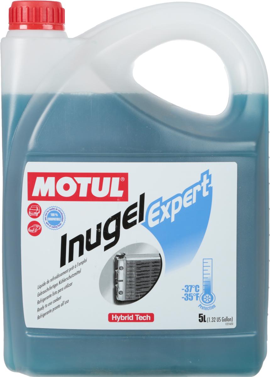 Антифриз Motul Inugel Expert -37, цвет: синий, зеленый, 5 л2252Готовая к использованию охлаждающая жидкость антикоррозионная, низкозамерзающая -37°C / -35°F.Не содержит нитритов, аминов, фосфатов. Motul Inugel Expert это готовая к использованию охлаждающая жидкость на основе моноэтиленгликоля с органическими и неорганическими добавками (гибридная технология). Этот продукт может смешиваться с любыми жидкостями на основе моноэтиленгликоля. Рекомендуется для всех охлаждающих систем: легковые автомобили, сложные условия эксплуатации,строительная и сельскохозяйственная техника, садовая техника, водная техника, стационарные двигатели. Одобрения: ASTM D3306/D4656; BS 6580; AFNOR NFR 15-601; SAE J1034; JASO M325; JIS K2234; KSM 2142; MB 326.0; FIAT 9.55523; CHRYSLER MS-7170; BMW GS 9400; PORSCHE/AUDI/SEAT/SKODA TL-774C (=G11); FORD ESD-M97B49-A; VOLVO CARS 128 6083/002; OPEL/GM QL 130
